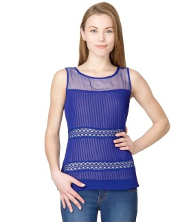 Latin Quarters Casual Sleeveless Striped Women's Top
