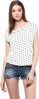 Golden Couture Casual, Festive, Formal, Party Short Sleeve Polka Print Women's Top