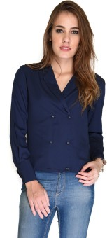 Hermosear Casual Full Sleeve Solid Women's Top