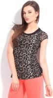 Riot Casual Short Sleeve Animal Print Women's Top