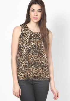 Mayra Casual Sleeveless Animal Print Women's Top
