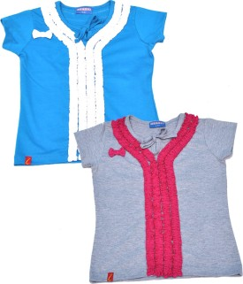 Clever Casual Short Sleeve Solid Baby Girl's Multicolor Top - TOPEJFF2HKXM2D5T