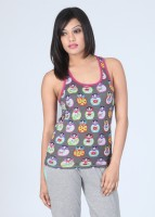 Nuteez Sleeveless Printed Women's Top