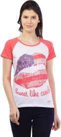 Cashewnut Party Short Sleeve Printed Women's Multicolor Top