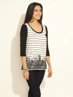 AND Casual Short Sleeve Printed Women's Top