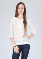 Alibi Casual 3/4 Sleeve Solid Women's Top