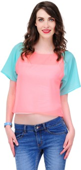 Yepme Casual Short Sleeve Solid Women's Top