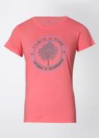 Urban Yoga Casual Short Sleeve Printed Women's Top