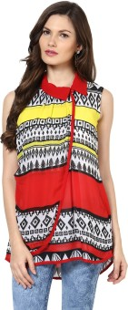 Glam And Luxe Casual Sleeveless Printed Women's Top