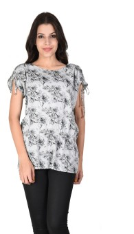 Latin Quarters Casual Short Sleeve Floral Print Women's Top