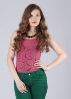 Do U Speak Green Casual Sleeveless Printed Women's Top
