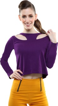 Miss Chase Party Full Sleeve Solid Women's Top - TOPE4BHGKQPMNXDX