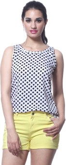 Faballey Casual Sleeveless Solid Women Top