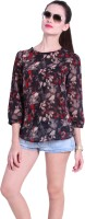 Trend 18 Casual 3/4 Sleeve Printed Women's Top