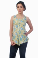 Co.in Casual Sleeveless Floral Print Women's Top