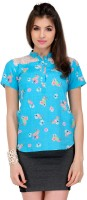 Yepme Casual Short Sleeve Floral Print Women's Top