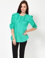 Kaxiaa Casual 3/4 Sleeve Solid Women's Top