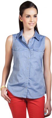 Cottonworld Casual Sleeveless Solid Women Top