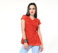 Glam & Luxe Casual Short Sleeve Printed Women's Top