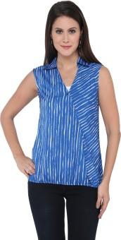 Goddess Women Casual Sleeveless Striped Women's Top