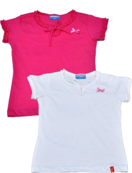 Clever Casual Short Sleeve Solid Baby Girl's Multicolor Top - TOPEJFF2DHAHA2NA