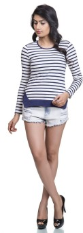 Colbrii Casual Full Sleeve Striped Women's Top