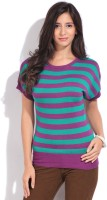 Noi Casual Short Sleeve Striped Women's Top