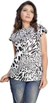 Kurtiz Party Sleeveless Animal Print Women's Top