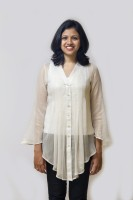 Mayank Modi Party Full Sleeve Solid Women's Top
