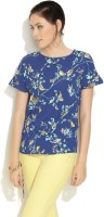 Color Cocktail Casual Short Sleeve Printed Women's Top
