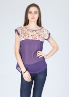Amari West Casual Short Sleeve Printed Women's Top