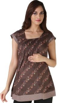 Morph Maternity Casual Short Sleeve Printed Women's Top