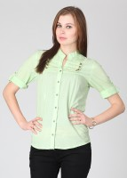 Mossimo Casual Roll-up Sleeve Solid Women's Top
