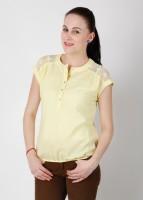 Wills Lifestyle Casual Short Sleeve Solid Women's Top