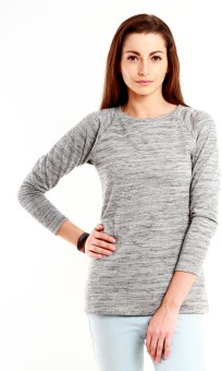 Nun Casual Full Sleeve Solid, Striped Women's Top