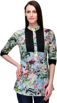 Stilestreet Casual 3/4 Sleeve Floral Print Women's Top