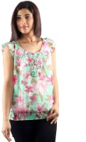 Uptowngaleria Casual Sleeveless Floral Print Women's Top