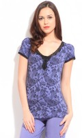 Amante Short Sleeve Floral Print Women's Top
