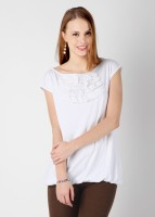 Mineral Casual Short Sleeve Solid Women's Top