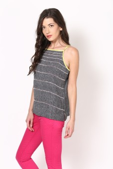 Rena Love Casual Sleeveless Striped Women's Top