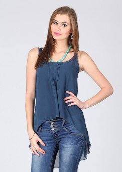 FREECULTR Casual Sleeveless Solid Women Top