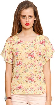 Zink London Casual Short Sleeve Floral Print Women's Top