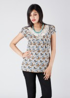 Style Quotient by Noi Casual Short Sleeve Printed Women's Top