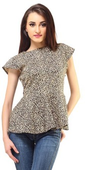Femme Casual, Casual, Festive, Party Short Sleeve Animal Print Women's Top