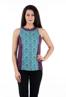 Colors Couture Casual Sleeveless Printed Women's Top