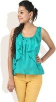 DONE BY NONE Casual Sleeveless Solid Women's Top