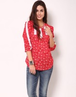 Kaxiaa Casual 3/4 Sleeve Printed Women's Top