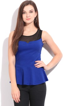 Elle Casual Sleeveless Solid Women Top