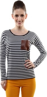 Miss Chase Casual Full Sleeve Striped Women's Top