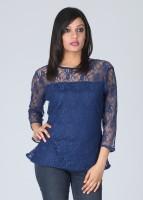 Meee Casual 3/4 Sleeve Solid Women's Top